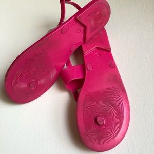 BCBGeneration Shoes - BCBG Hot Pink Jelly Sandals